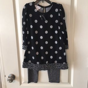 A sweet Bonnie Jean black/grey outfit for girls
